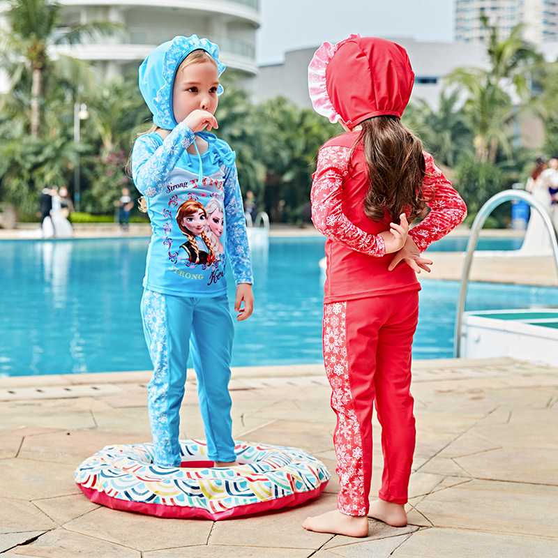 Kids Swimwear For Girls Swimsuit Children Sexy Bikini Baby Clothes 2017 New Girl Long Sleeve 5826 Biquini Infantil Menina one piece swimsuit children s swimwear girl children baby swim wear kids cute swimsuits 2017 new buoyancy life biquini infantil