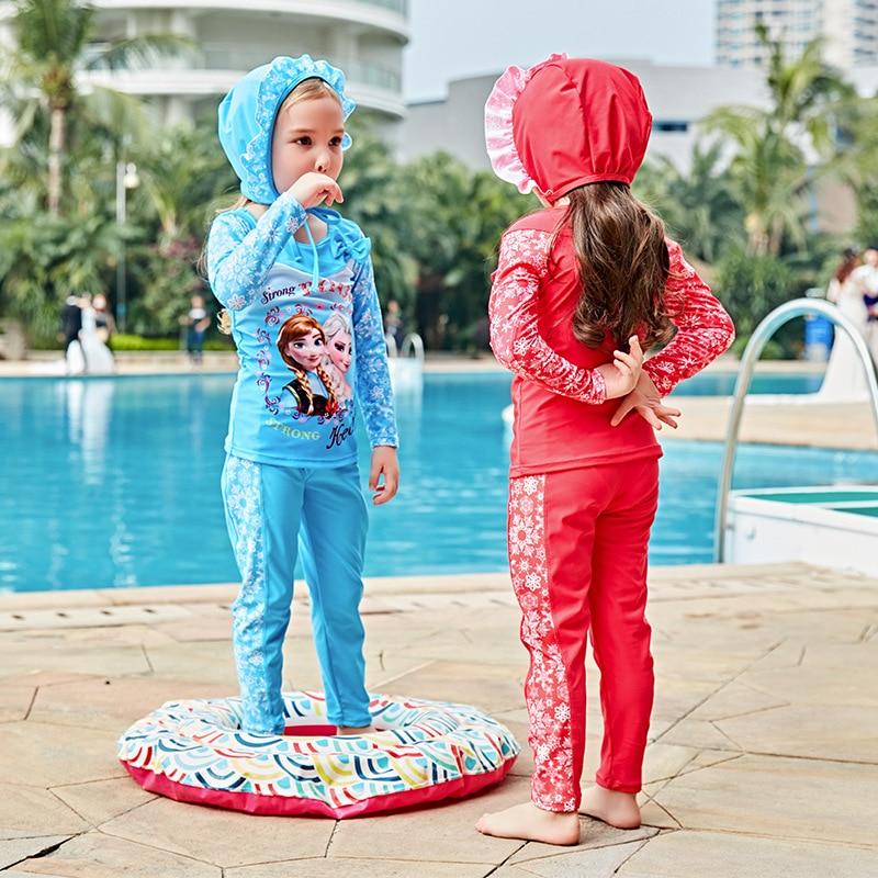 Kids Swimwear For Girls Swimsuit Children Sexy Bikini Baby Clothes 2017 New Girl Long Sleeve 5826 Biquini Infantil Menina