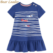 Bear Leader Girls Dress 2017 New Summer Casual Style Kids Dress Cartoon Pattern Printing Design for Children Clothing Girl Dress