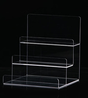 5c5180bc3955c7 3 Layer Acrylic Clutch Bag Wallets Jewelry Accessories Display Holder Stand  Retail Shop Display
