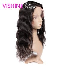 New Arrival Vishine hair 360 Lace frontal Peruvian Body Wave Lace Frontals With Baby Hair 13x4x2 Elastic Band Free Shipping