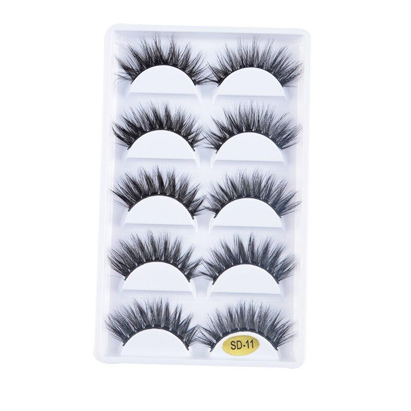 NEW 250 pairs 100% Real Fake Mink Lashes 3D Natural False Eyelashes 3d Mink Eyelashes Soft Eyelashes Extension Makeup Kit cilios