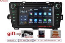 """8 """"Android 7.1for Toyota Prius оставил 2 DIN автомобильный DVD, навигация GPS, RDS, Wi-Fi, 4 г LTE, Quad Core, 1024×600,2 ГБ Оперативная память, поддержка DVR, OBD2"""