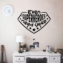 Modern need sleep Wall Sticker Self Adhesive Vinyl Waterproof Art Decal vinyl Stickers Home Accessories