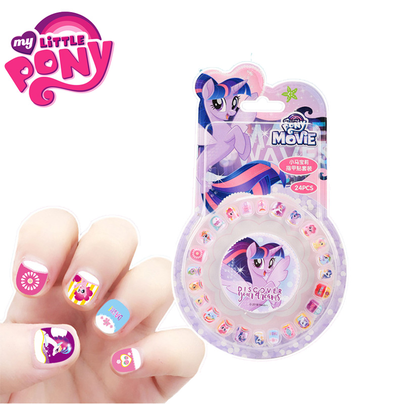 Image 2 - New My Little Pony Toys PVC Pony Stickers Pack Children Girl Nail Stickers Removable 3D Rainbow Dash Twilight Sparkle Pinkie Pie-in Action & Toy Figures from Toys & Hobbies