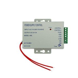 Image 4 - סט שלם של RFID דלת בקרת גישה מערכת ערכת סט עם מנעול RFID לוח מקשים + כוח + מנעול מגנטי + דלת יציאה + מפתחות משלוח חינם