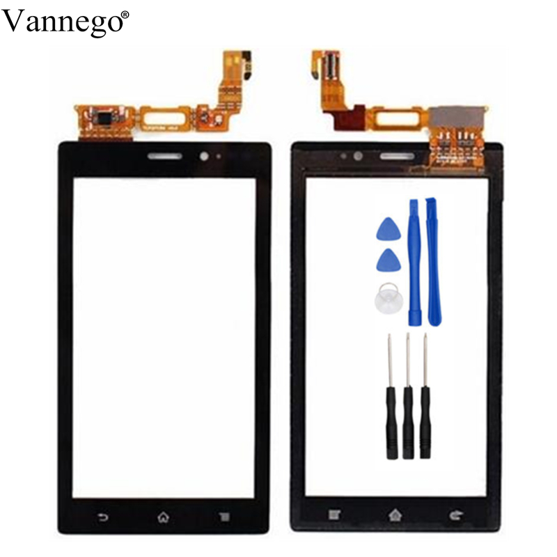 Vannego Touch Panel For Sony Xperia Sola MT27 MT27i Touch Screen Digitizer Front Front touchscreen Glass Lens Sensor