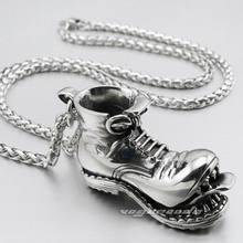 Ожерелье из нержавеющей стали с подвеской в виде черепа, байкерское ожерелье в стиле рок, панк, 4S026, 24 дюйма