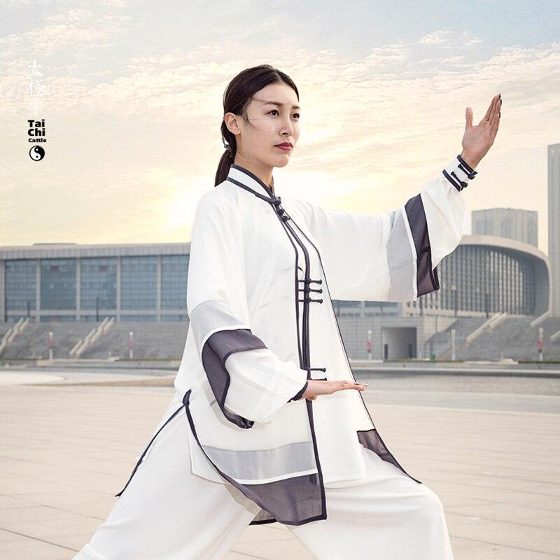 Chinese Tai chi font b clothing b font taiji clothes performance suit wushu garment kungfu uniform