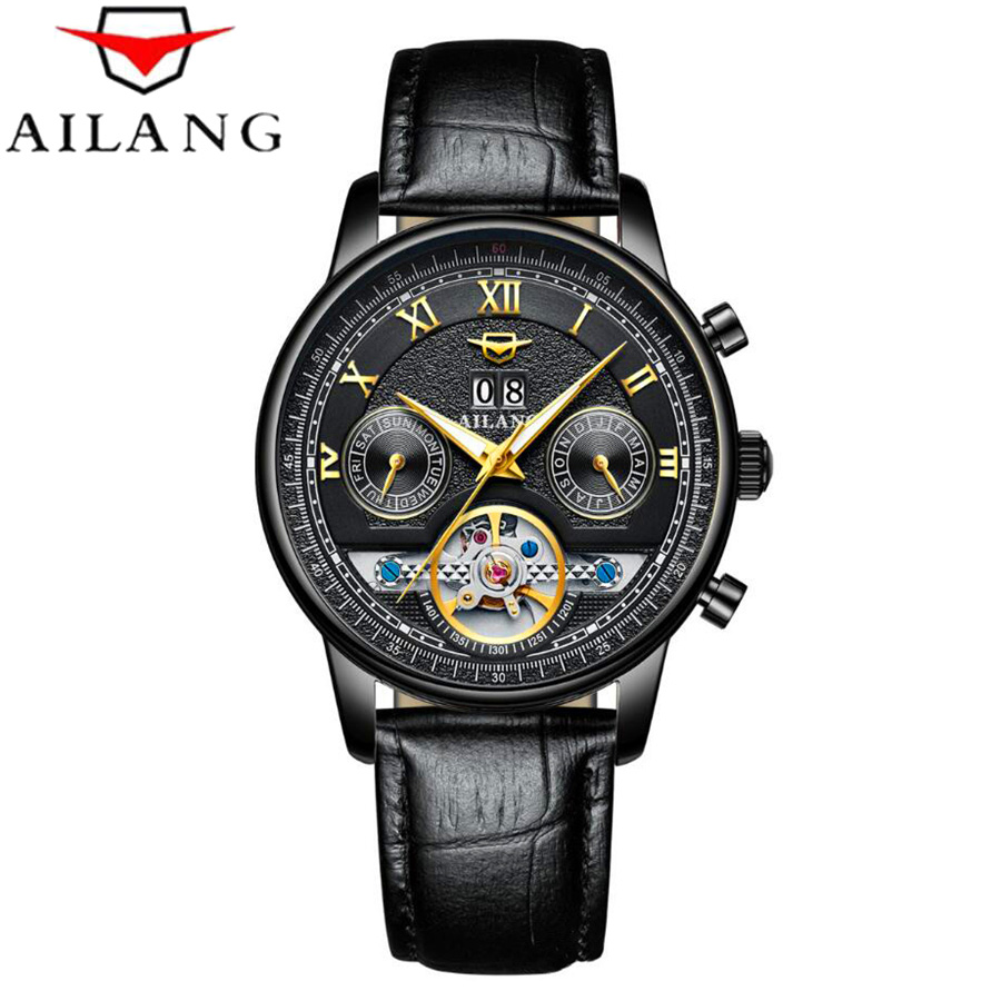 AILANG Mens Watches Top Brand Luxury Clock Automatic Mechanical Watch Men Business Waterproof Wrist Watch Relogio Masculino 2018 reloj hombre 2017 mens watches top brand luxury automatic mechanical watch waterproof business wrist watch men relogio masculino
