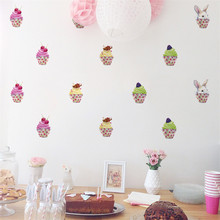 Mobile Creative Ice Cream Wall Stickers Affixed With Decorative Wall Window Decoration vinilos decorativos para paredes