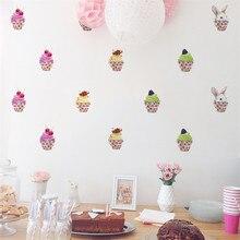 Mobile créatif crème glacée Stickers muraux apposés avec décoratif mur fenêtre décoration vinilos decorativos para paredes