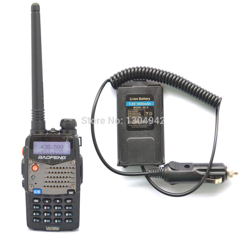 BAOFENG UV-5RA VHF/UHF Dual Band Walkie Talkie + Original Battery Eliminator Handy Hunting Radio Receiver With Headfone
