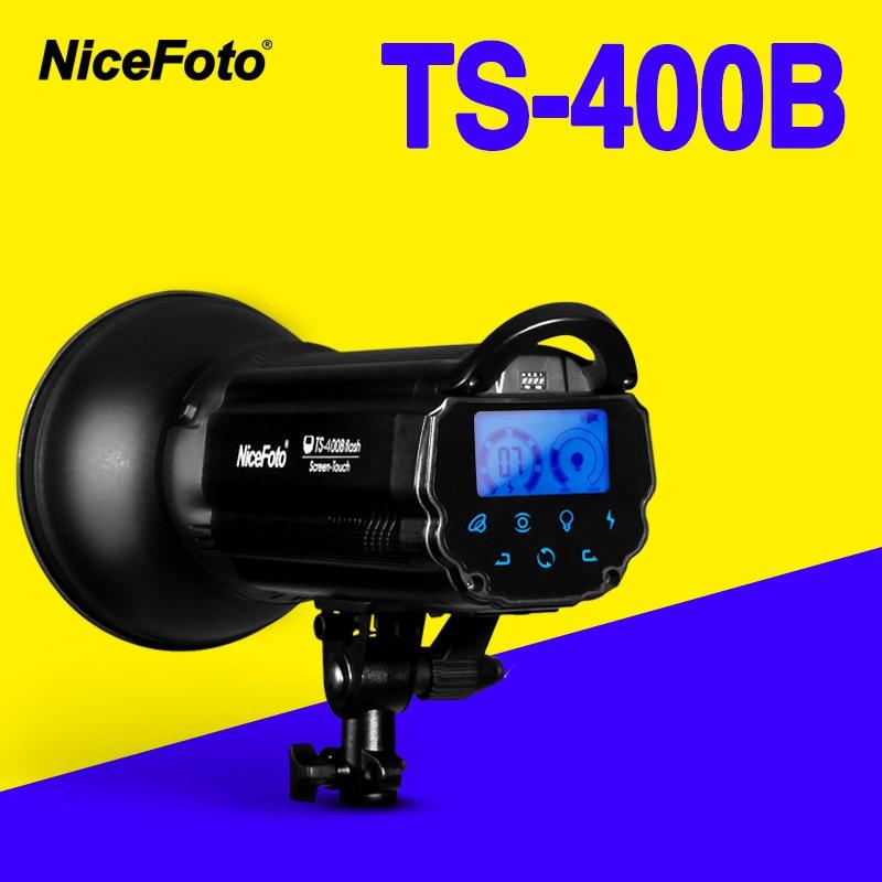 NiceFoto TS-400B 400 w Estúdio Flash de 2.4 ghz receptor embutido TS400B Estúdio Profissional de fotografia luz do estúdio lâmpada