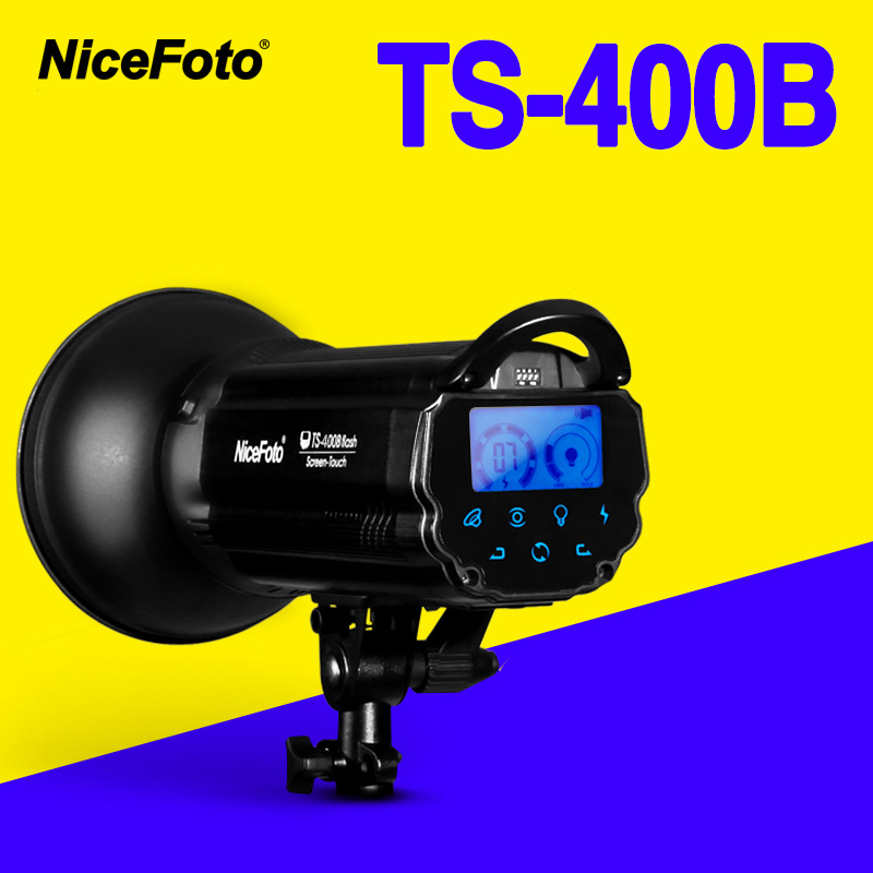 NiceFoto TS-400B 400W Studio Flash 2.4GHz built-in receiver TS400B Professional Studio photography studio light lamp nicefoto tb 600b 600w studio flash fast recycling time tb 600b studio profession photography studio light lamp touch button