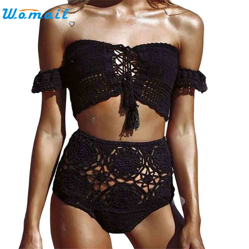 Womail 2017 New Arrival Strapless Women Handmade Knitted Binikis Sets Sexy Women's Swimwear Swimsuit Gifts 1PC