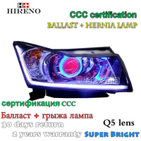 Hireno Modified Headlamp For Chevrolet Cruze 2009 2014 Headlight Assembly Car Styling Angel Lens Beam HID