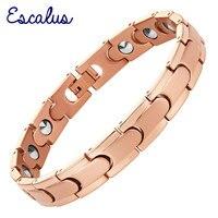 Escalus Link Chain High Pure Germanium Women Bracelet Rose Gold Color Health Energy Men Steel Bracelets