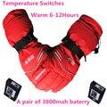 GA0630 Esquí Deporte Al Aire Libre USB Batería de Litio Auto Calefacción Eléctrica Guantes de Dedo/de la Mano Caliente de Nuevo, 3 engranaje Termostática caliente 6-12 h