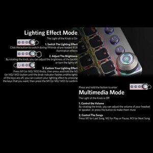 Image 3 - AULA Mechanische Gaming Tastatur Retro Steampunk LED Backlit 104 schlüssel Wasserdicht für PC Computer Laptop Spiel Gamer Kyeboard