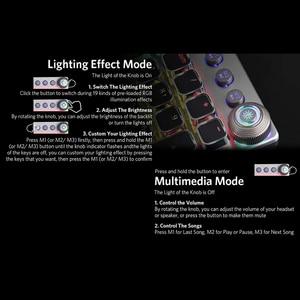 Image 3 - אאולה מקלדת משחקים מכאניים רטרו Steampunk LED עם תאורה אחורית 104 מפתחות עמיד למים עבור מחשב מחשב מחשב נייד משחק גיימר Kyeboard