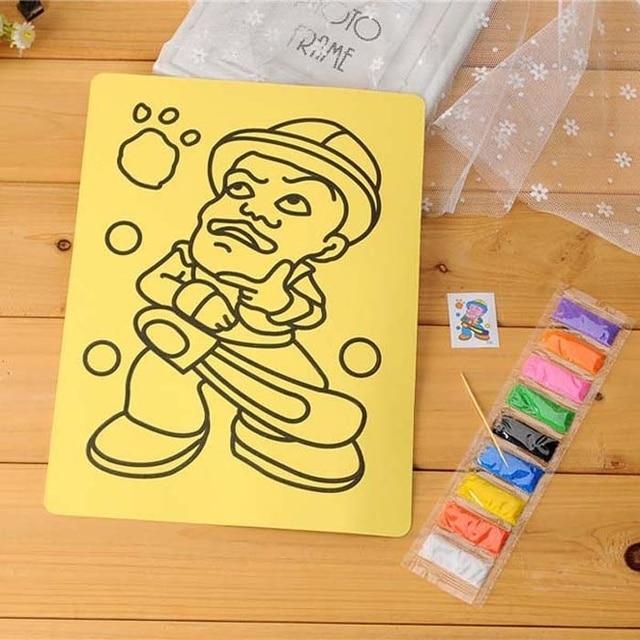 5Pcs Large Size Sand Art Painting Drawing Picture Sets Kid Children ...
