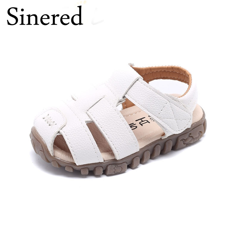 SINERED 2018 Summer New Childrens sandals Boy beach shoes baby soft shoes Hook & loop sandals