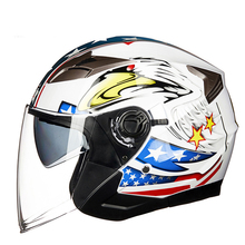 New arrival GXT Motorcycle Helmet Half Face ABS Motorbike Helmet Electric Safety Double Lens Helmet Moto Casque for Women/Men free shipping authentic retro ls2 of561 motorcycle half helmet electric car helmet warm winter helmet safety silver