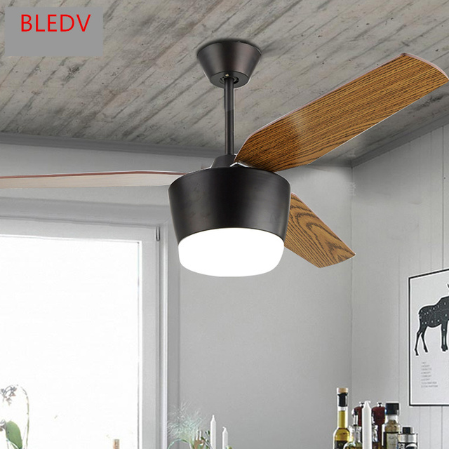 Factory wholesale high quality american retro ceiling fan creative ledceiling fans 3 blades 110 220v