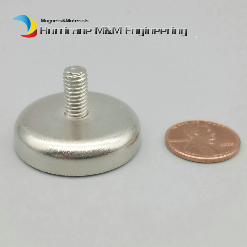 2-120pcs Magnet Diameter 32mm Clamping Pot Mounting Magnet  Male Thread Neodymium Lifting Magnet Permanent Strong Holding Magnet trouble magnet 2