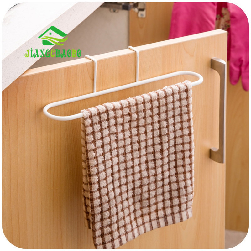 Kitchen Towel Hooks For Towels: Wall Towel Rack Kitchen Cabinet Door Wipes Waffle Creative