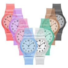 Transparent Watches Boy Sports Quartz Wristwatch Fashion Casual Clear Silicone Crystal Ladies Watch girls Clock reloj mujer Hot