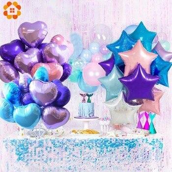 1 Set Della Serie Sirena Coriandoli Air Balloons/Banner Mermaid Elio Palle Per Bambini Regalo Di Compleanno Decorazioni Del Partito Baby Shower Forniture