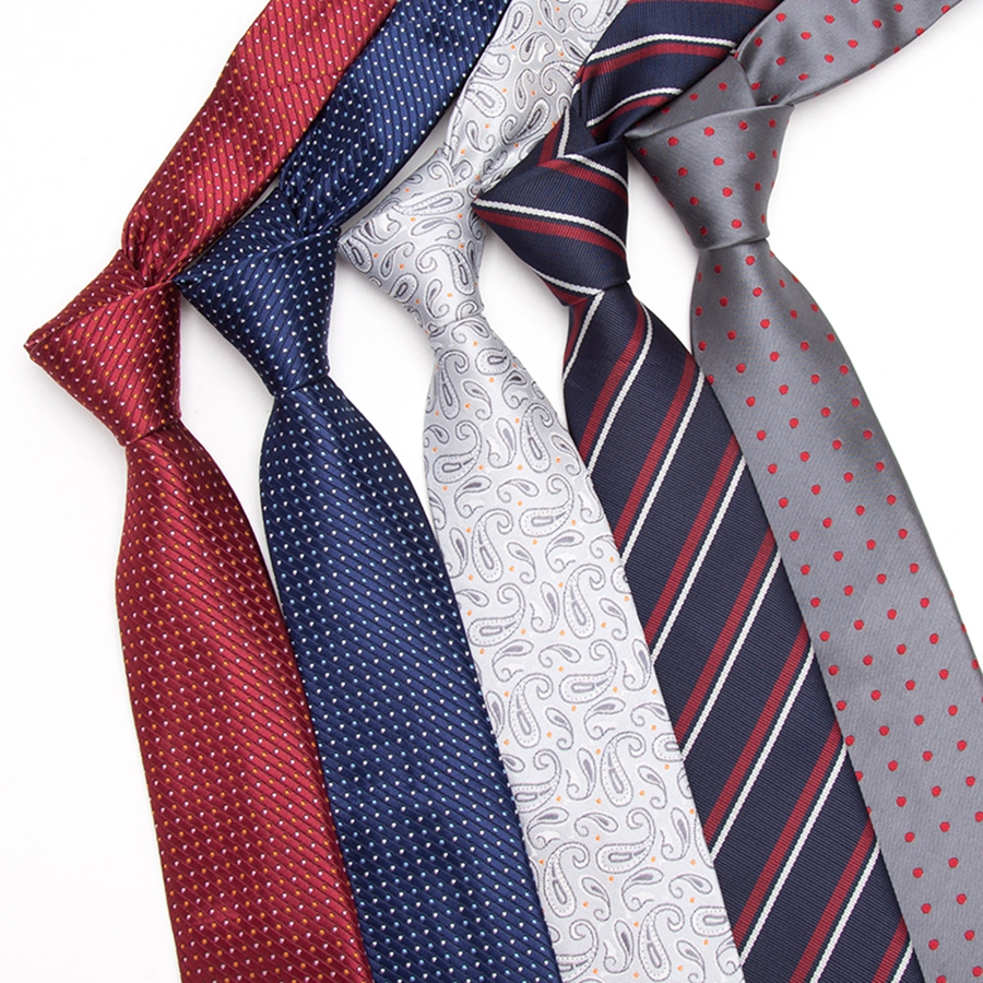 Men Tie 7cm Skinny Ties Mens New Fashion Dot Neckties Corbatas Gravata Jacquard Slim Tie Business Man's Wedding Dress Neckties
