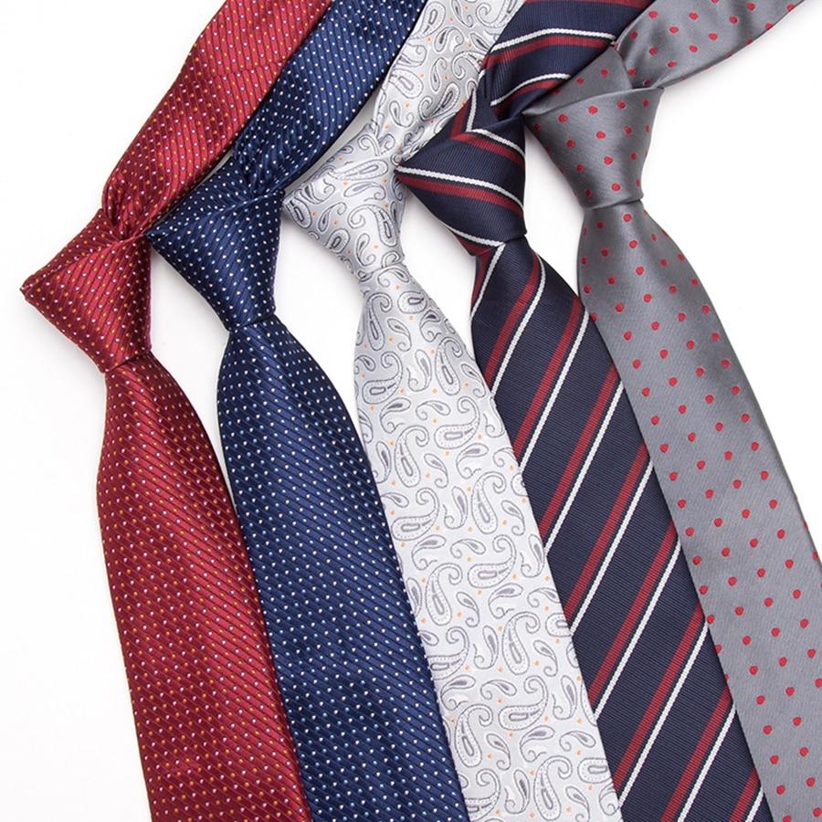 Men Tie 7cm Skinny Ties Mens New Fashion Dot Neckties Corbatas Gravata Jacquard Slim Tie Business Man's Wedding Dress Neckties