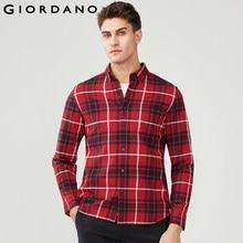 Giordano Hommes Chemise Hommes Flanelle 100% Coton Camisa Masculina Chemise  À Manches Longues Décontracté Chaud 69c842825cdb