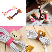 4pcs Cartoon Earphone Cable Wire Cord Organizer Holder Winder for Phone Tablet MP3 Computer Headphone winding thread tool(China)