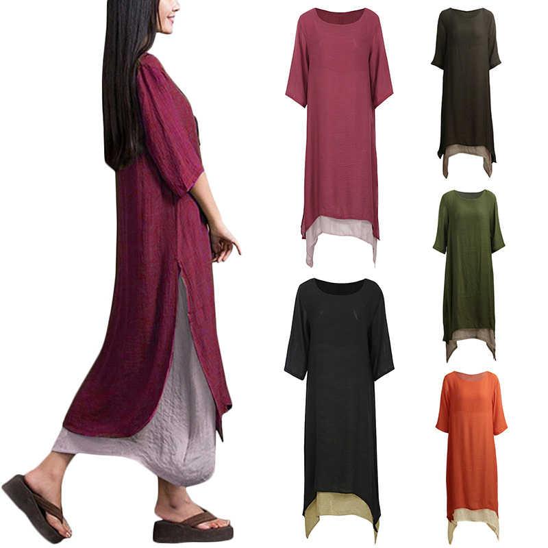 01135b3fe ... 2019 vestido de verano de las mujeres Vintage Boho Plus tamaño vestido  3XL 4XL 5XL Retro ...