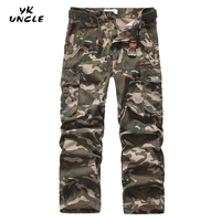 Men's Cargo Pants Casual Loose Men Pant Pocket Military Camouflage Overall For Men Outdoors Sweatpants Joggers Trousers,YK UNCLE