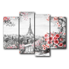 Laeacco Canvas Calligraphy Painting Garden Posters Prints Paris Tower Flower Wall Art Pictures for Living Room Home Decoration стоимость
