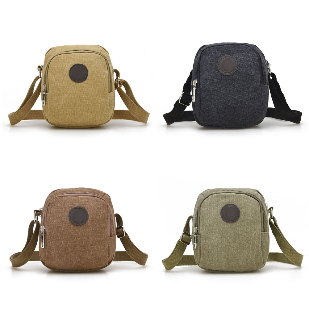 Vintage Canvas Men's Crossbody Over Shoulder Messenger Bags Handbag Leisure  Travel  Bag  LBY2017