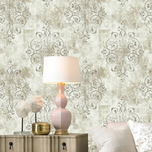 HaokHome Vintage French Damask 3d Wallpaper Off White/Grey/Lt.Gold For Home