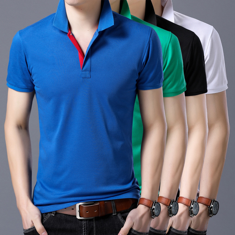 High Quality Men   Polo   Shirt Mens short Sleeve Solid   Polo   Shirts Camisa   Polos   Masculina 2019 Casual cotton Tops