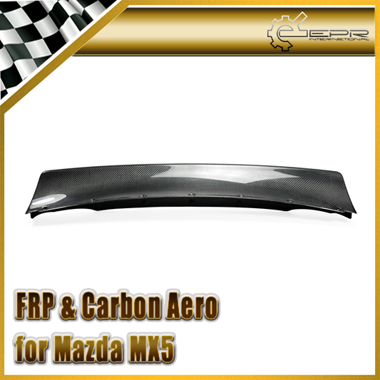 Car-styling Carbon Fiber Wide Body Rocket B Style Rear Spoiler R Bunny Trunk Wing Fit For Mazda MX5 1989-1997 NA Miata Roadster