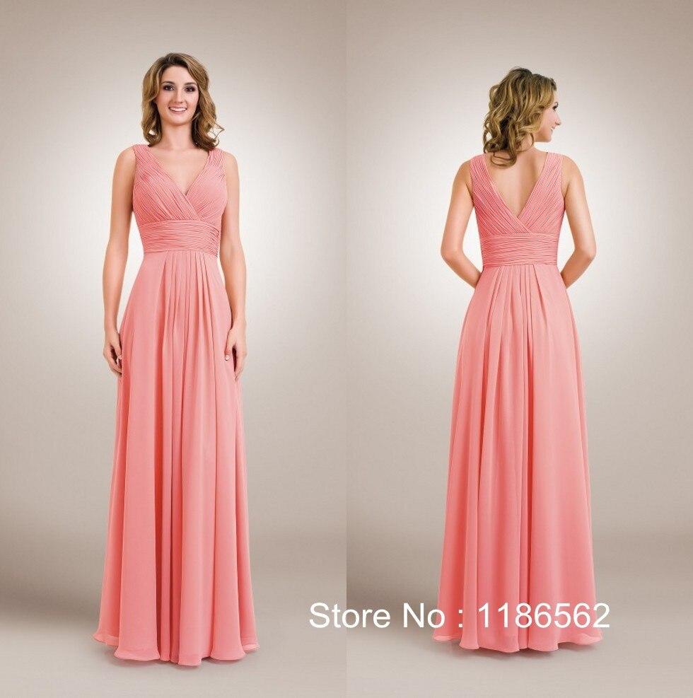 Vestidos largos para boda color coral – Moda Española moderna