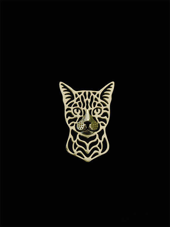 New Romantic Gold Silver Bengal cat Pendant Necklace Hunger Games Necklace Women Best Friend Choker Animal Jewelry