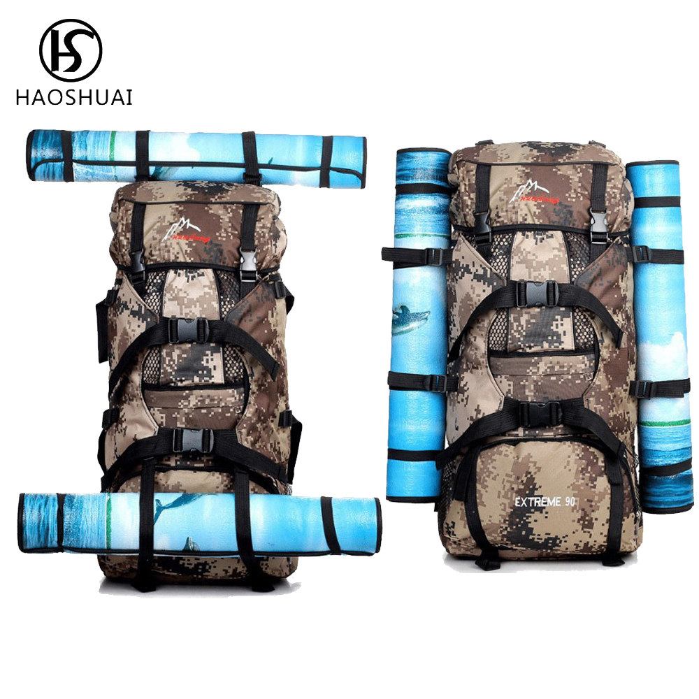 New Camouflage Backpacks Unisex Leisure Backpacks Military Backpack 90L Waterproof Nylon Travel Men Mountaineering Bags 2017 hot sale men 50l military army bag men backpack high quality waterproof nylon laptop backpacks camouflage bags freeshipping