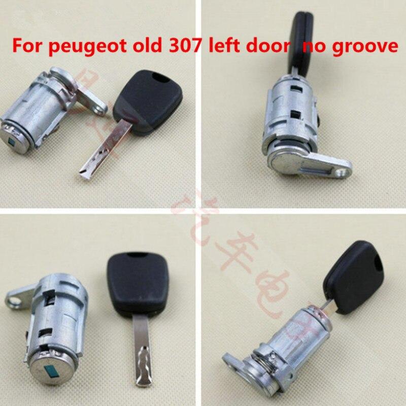 Car Left Door Lock Cylinder Auto Left Door Lock Cylinder For Peugeot 307 408 508 Ignition Lock  Centrol Lock
