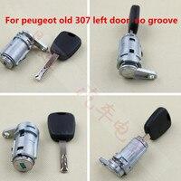 Xe Trái Cửa Xi Lanh khóa Tự Động Trái Cửa Xi Lanh Khóa đối với Peugeot 307 408 508 đánh lửa khóa Centrol Khóa