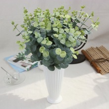 Artificial eucalyptus leaf Green plant branches Flower arranging accessories money leaves